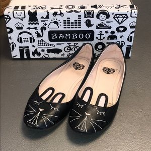 Adorable TUK Black Bunny/Rabbit Shoes